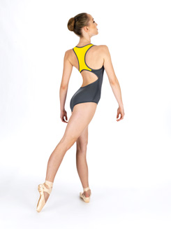 Adult Contrast Back Tank Dance Leotard 