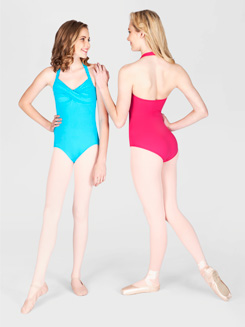 Halter Leotard With Twist Front 