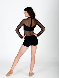 Long Sleeve Mesh Unitard