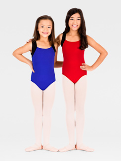 Elastic Back Child Tank Leotard 