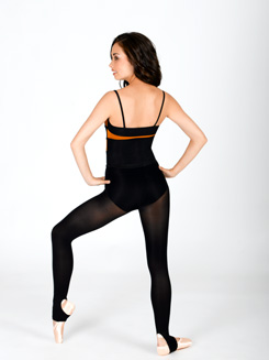 Spliced Two-Tone Camisole Leotard