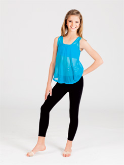 Child Power Mesh Tie Back Tank Top