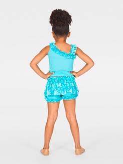 Child Asymmetrical Ruffled Tank Top