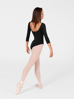 Adult High Cut 3/4 Sleeve Leotard