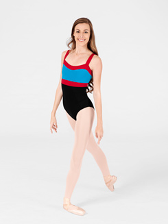 Adult Triple-Tone Color Blocked Leotard