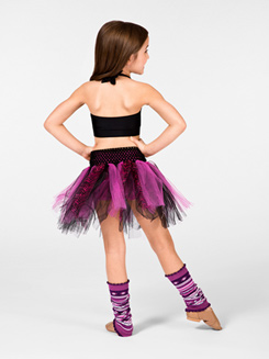 Child Tattered Zebra Tutu 