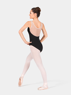 Adult Tank Leotard with Nude Mesh