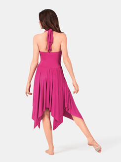 Halter Rouched Front Dress