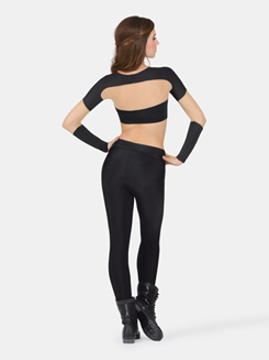 Adult Long Sleeve Crop Top with Mesh Inserts