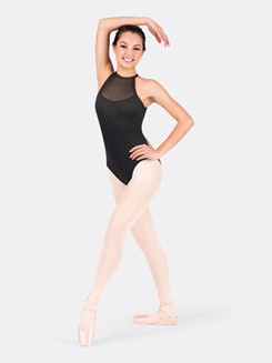 Adult Halter Powermesh Bodice Leotard