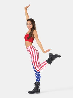 Adult American Flag Legging