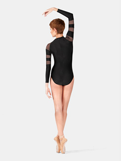 Adult Mesh Long Sleeve Leotard