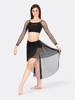 Adult Mesh Pull-On Hi-Lo Skirt