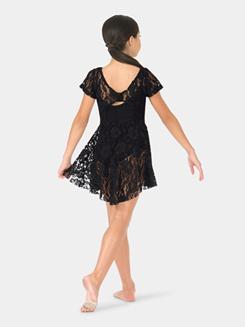 Girls Lace Short Sleeve Overdress