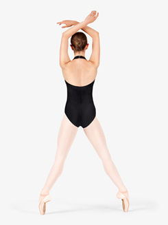 Adult Pinch Front Halter Dance Leotard