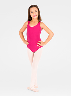 Asymmetrical Child Tank Leotard