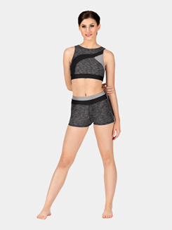 Adult Colorblock Yoga Shorts