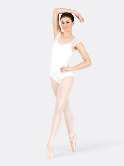 Adult Cap Sleeve Dot Mesh Leotard