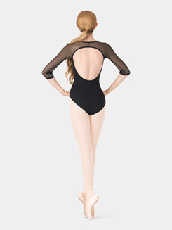 Adult 3/4 Mesh Sleeve Leotard
