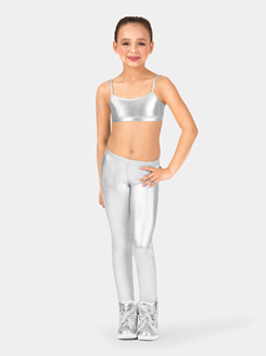 Child Metallic Ankle Leggings