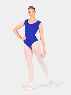 Adult Asymmetrical Leotard with Cap Sleeves
