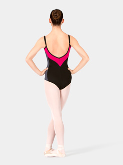 Color Block V-Back Camisole Leotard