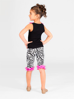 Child Zebra Ruffle Capri Pants