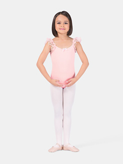 Girls Flutter Sleeve Dance Leotard
