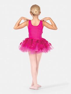Girls Tank 3-D Floral Tutu Dress