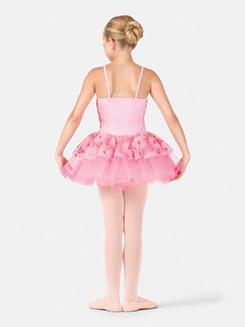 Girls Camisole Sequined Daisy Tutu Dress
