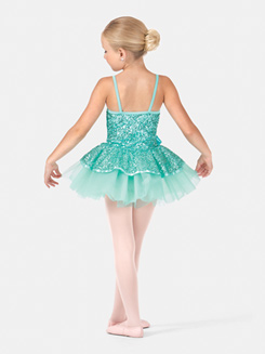 Girls Camisole Sequined Tutu Dress