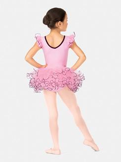 Girls Short Sleeve Petticoat Tutu Dress