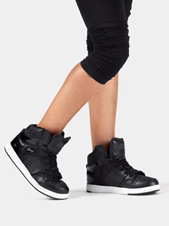 Kids Black Glam Pie Glitter Sneakers