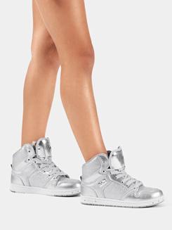 Kids Silver Glam Pie Glitter Sneakers