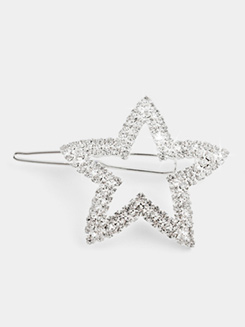 Rhinestone Star Hair Barrette 