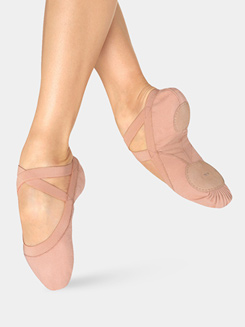 Pro Elastic Adult Split-Sole Canvas Ballet Slipper