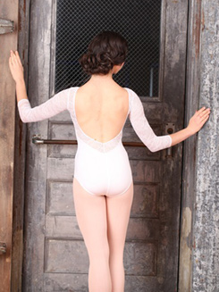 Long Sleeve Grace Kelly Lace Leotard