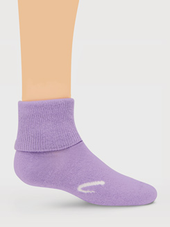 3-Pack Girls Turn Cuff Socks