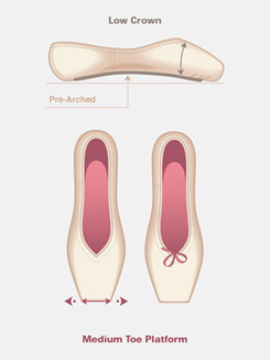 Sapfir Pointe Shoe (Sapphire) 