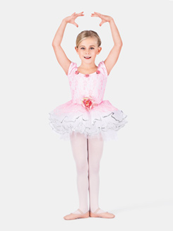 Child Rose Lace Tutu Dance Dress