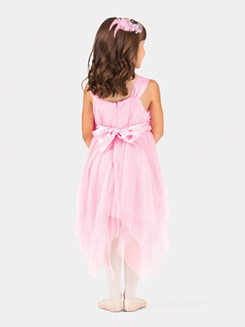 Girls Flower Sequin Tank Dress