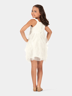 Girls Tank Spiral Tulle Dress