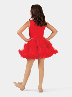 Girls Tank Flower Petal Petticoat Dress