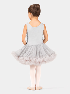 Girls Tank Flower Petal Petticoat Dress