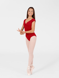 Adult Mock-Wrap Dance Leotard