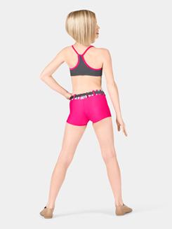 Girls Plaid & Lace Dance Short