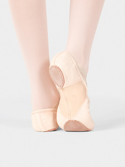 Girls Canvas Stretch Split-Sole SofTouch Ballet Slipper