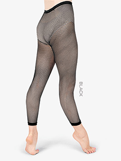 Adult Basic Capri Fishnet Dance Tight