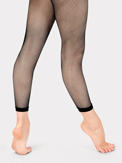 Girls Basic Footless Fishnet Dance Tights 