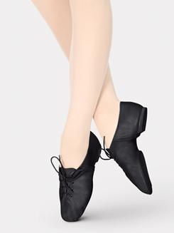 Girls Split-Sole Leather Jazz Shoe